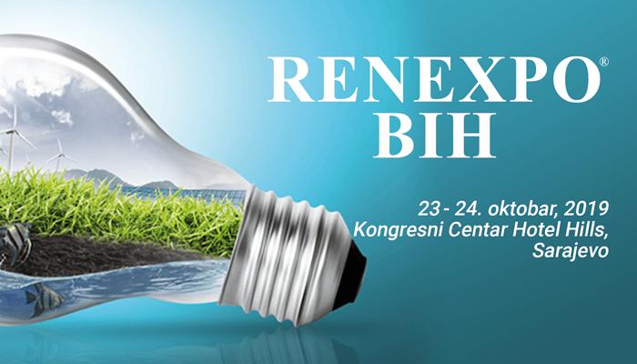 Najveći međunarodni sajam obnovljivih izvora energije, zaštite okoliša i upravljanja vodama 23. i 24. oktobar 2019. Sarajevo, Bosna i Hercegovina