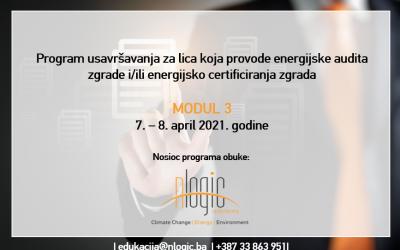 POZIV na Program usavršavanja (MODUL 3) za energijske auditore i energijske certifikatore u FBiH