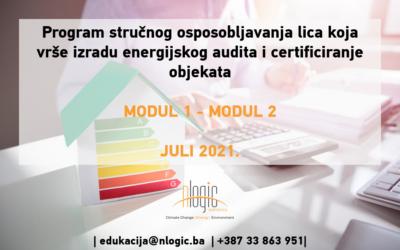 POZIV na Program obuke za energijske auditore i energijske certifikatore