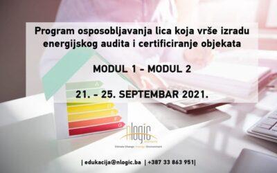 Stručno osposobljavanje iz oblasti energijskog certificiranja i obavljanja energijskih audita MODUL 1 i MODUL 2